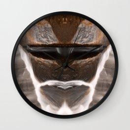 Alien Tribal Mask Wall Clock