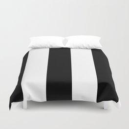 5th Avenue Stripe No. 2 in Black and White Onyx Duvet Cover