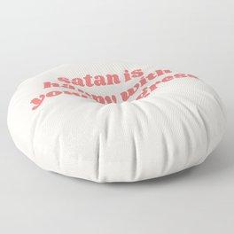 satan is happy Floor Pillow