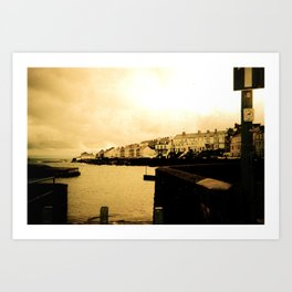 Sea Town Art Print