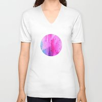 scales V-neck T-shirts featuring pink scales by Hannah
