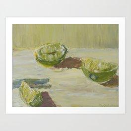 Still Life of Limes Art Print