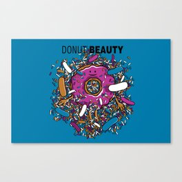 Donut Beauty Canvas Print