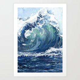 Kai's Wave Art Print