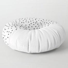 Pastel pink black watercolor polka dots pattern Floor Pillow
