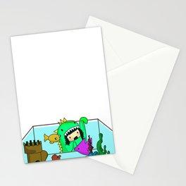Rawr went Monstafishing... muh muh muh MONSTA FISH! Stationery Cards