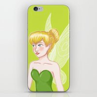 tinker bell iPhone & iPod Skins featuring Tinker Bell by Fran Abigail