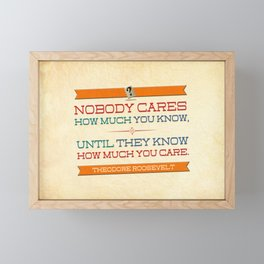 How Much You Care Framed Mini Art Print