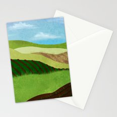 Fields And Farms Under A Summer Sky Stationery Cards
