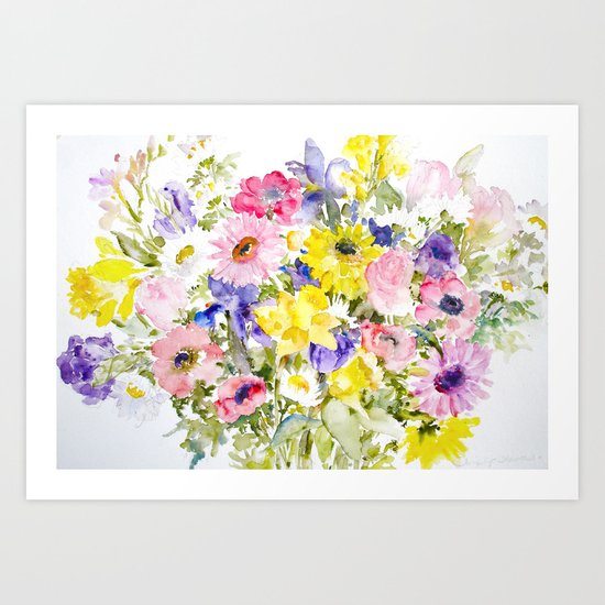 Simply Flowers Art Print