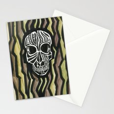 Skull Fiber Stationery Cards