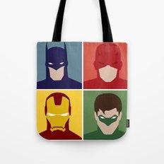 Minimalist Heroes Tote Bag
