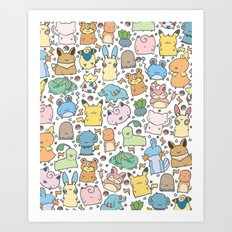 Kawaii Pokémon Art Print