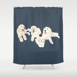 Kylie, tate, connor, and callie Shower Curtain