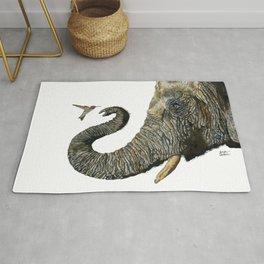 Elephant Cyril And Hummingbird Ayre 2 Rug