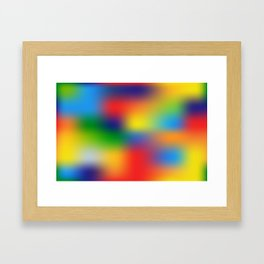 Abstract Colorful illustration Framed Art Print