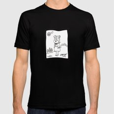 Lolo in Seattle(in her dream) Lolo the dog Mens Fitted Tee Black MEDIUM