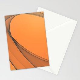 Zen Beach Orange Stationery Cards