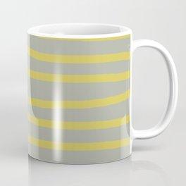 Simply Drawn Stripes in Mod Yellow Retro Gray Coffee Mug