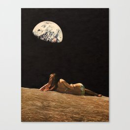 Moon Vacay Canvas Print