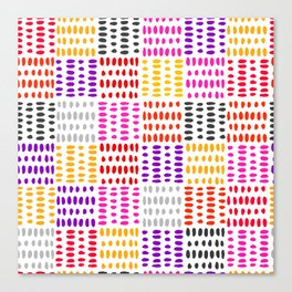 bright pattern of pink, yelow and purpe no 4 Canvas Print