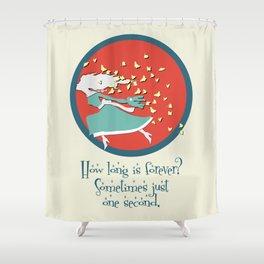 Nicole's Alice in Wonderland Quote Swag Shower Curtain