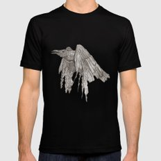 Crow Mens Fitted Tee SMALL Black