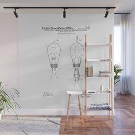 Thomas Edison Electric Lamp Patent Wall Mural