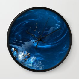 Blue coral melody  Wall Clock