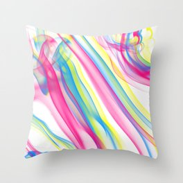 CMYK Smoke Throw Pillow