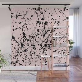 Splat Black on Blush Wall Mural