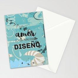 El amor es un monstruoso diseño! Stationery Cards