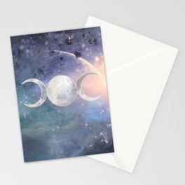 Heavenly Universe Triple Moon Goddess Stationery Cards