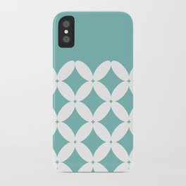 Abstract pattern - blue and white. iPhone Case