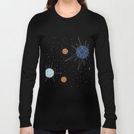Atomic Stars Blue & Orange Long Sleeve T-shirt