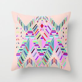 geo sushi pink Throw Pillow