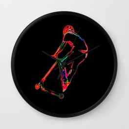 High-flying Scootering - Scooter Boy Wall Clock