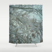 frozen Shower Curtains featuring Frozen by DesignsByMarly