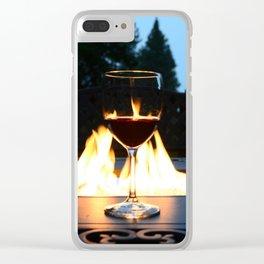 Fireside Wine I Clear iPhone Case