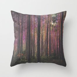 COSMIC FOREST UNIVERSE Throw Pillow