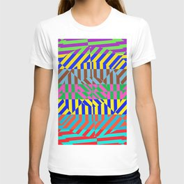 Best Abstract Art (80s Neon Colors) T-shirt