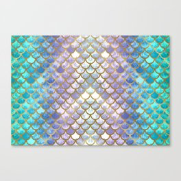 Pretty Mermaid Scales Canvas Print
