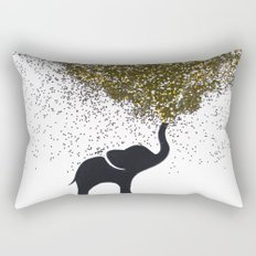 elephant w/ glitter Rectangular Pillow