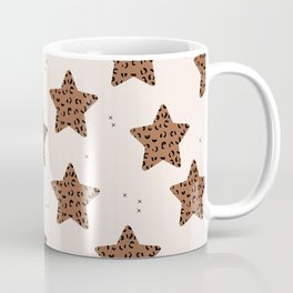 Leopard Star Copper Patern Design Print Coffee Mug