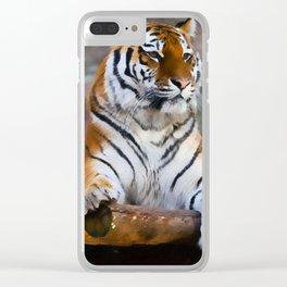 Regal Tiger Clear iPhone Case