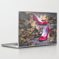 erotic Laptop & iPad Skins featuring Red Shoes by Maria Heyens