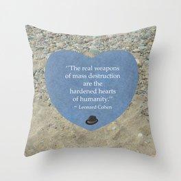 Hardened Hearts Throw Pillow