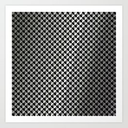 Black and Silver Gray Ghost Checkerboard Weimaraner Art Print