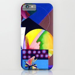 African American Masterpiece 'A Nutcracker' abstract landscape painting by E.J. Martin iPhone Case