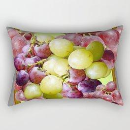 DECORATIVE PURPLE & GREEN GRAPE CLUSTER DESIGN Rectangular Pillow